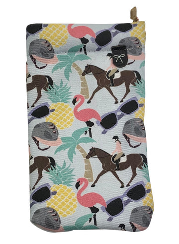 Spiced Equestrian Sunglasses Case in Summer Vibes
