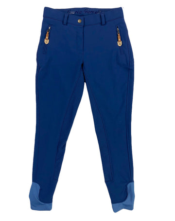 Lauria Garelli Softshell Full Seat Winter Breeches in Royal Blue - Women's 24 | XS/S