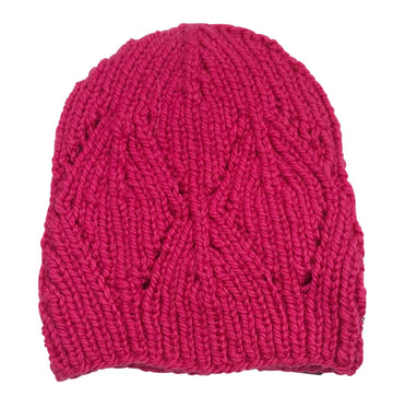 RR Knit Beanie in Hot Pink
