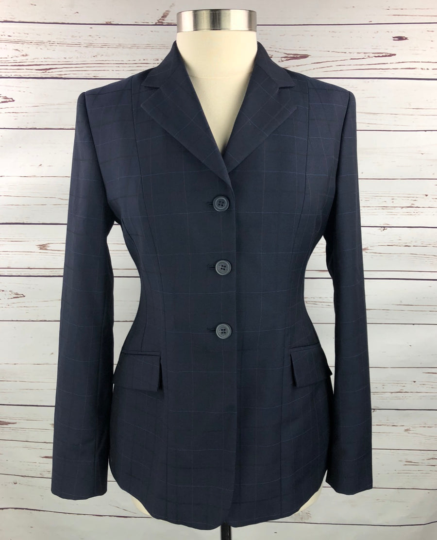 RJ Classics Prestige Washable Hunt Coat in Navy - Front View