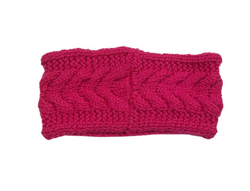 RR Knit Headband in Hot Pink