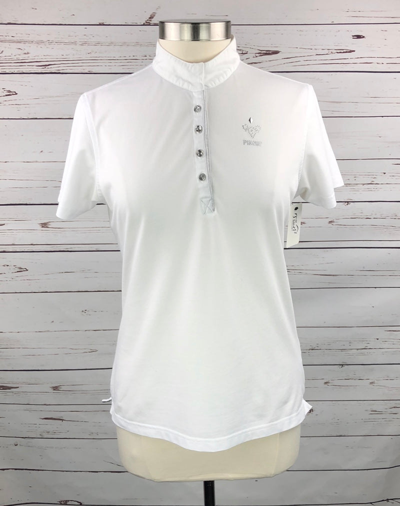 Pikeur Crystal Competition Shirt in White - Women's EU 44 (US 12)