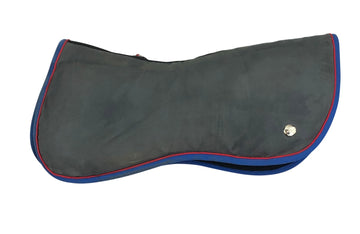 Isde of Ogilvy Memory Foam Half Pad in Grey/ Blue & Red Trim