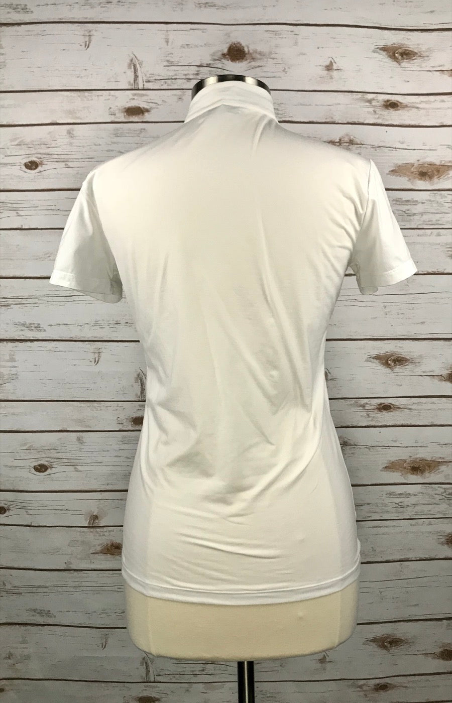 Alessandro Albanese Rio Competition Polo in White/Navy in Women's XL - back view