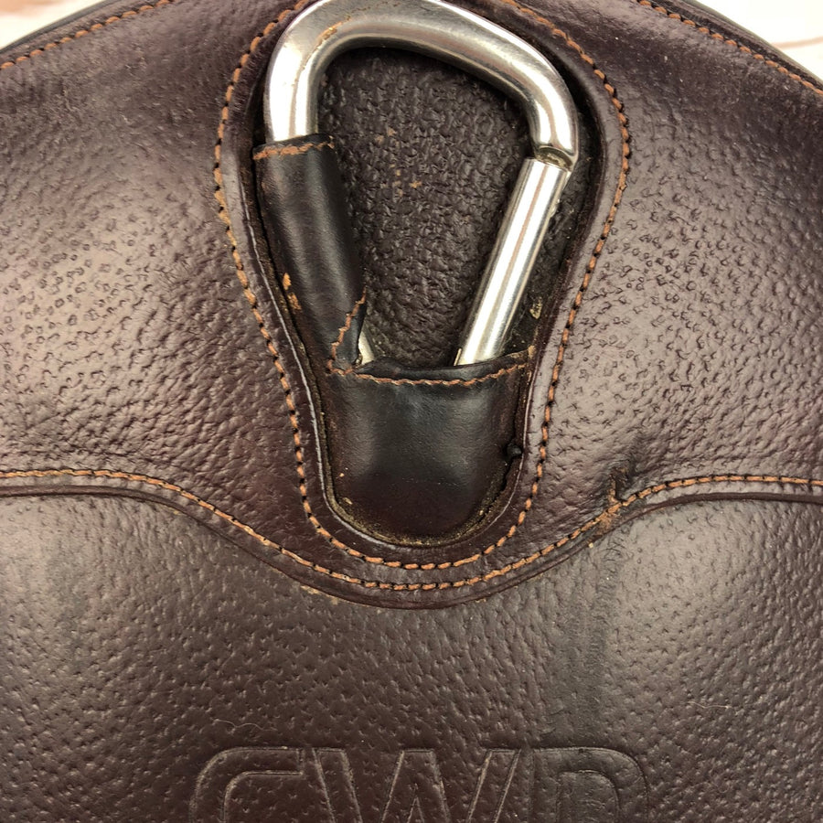 CWD Jumping Belly Guard Girth in Brown - Close Up Clasp View