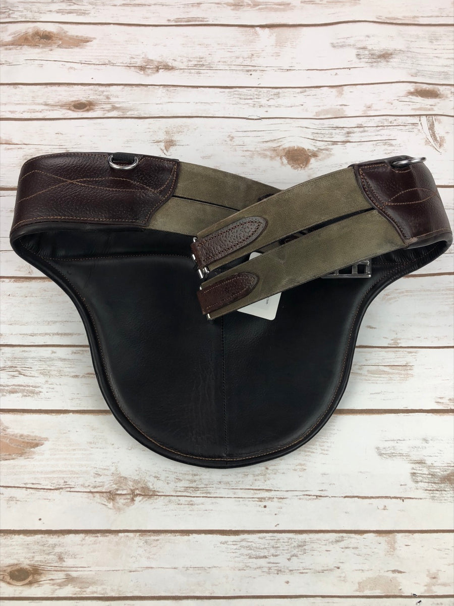 CWD Jumping Belly Guard Girth in Brown - Back View
