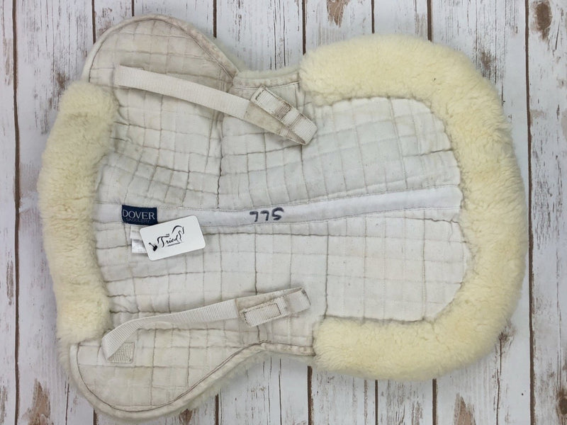 Dover Saddlery Sheepskin Half Pad in White - Small A/P