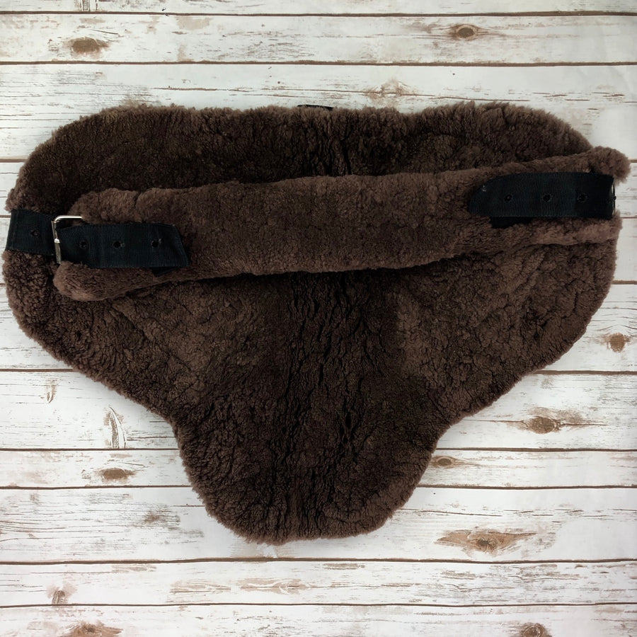 Fleeceworks Sheepskin Bareback Pad in Brown - Bottom View