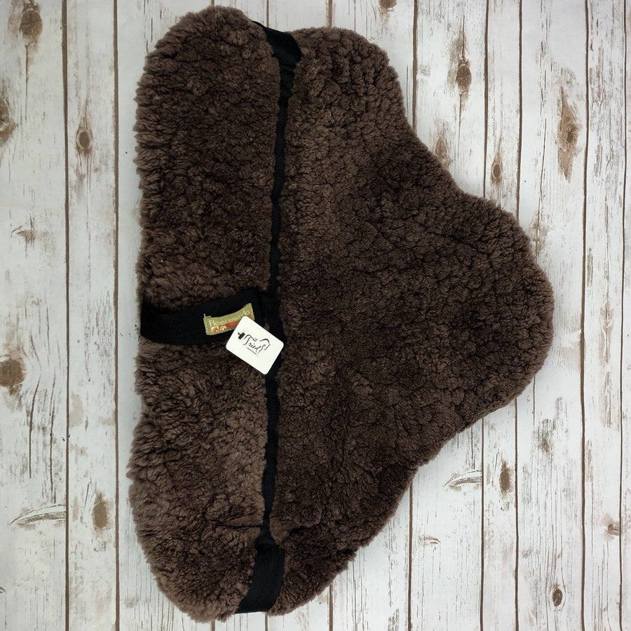 Fleeceworks Sheepskin Bareback Pad in Brown - Top View