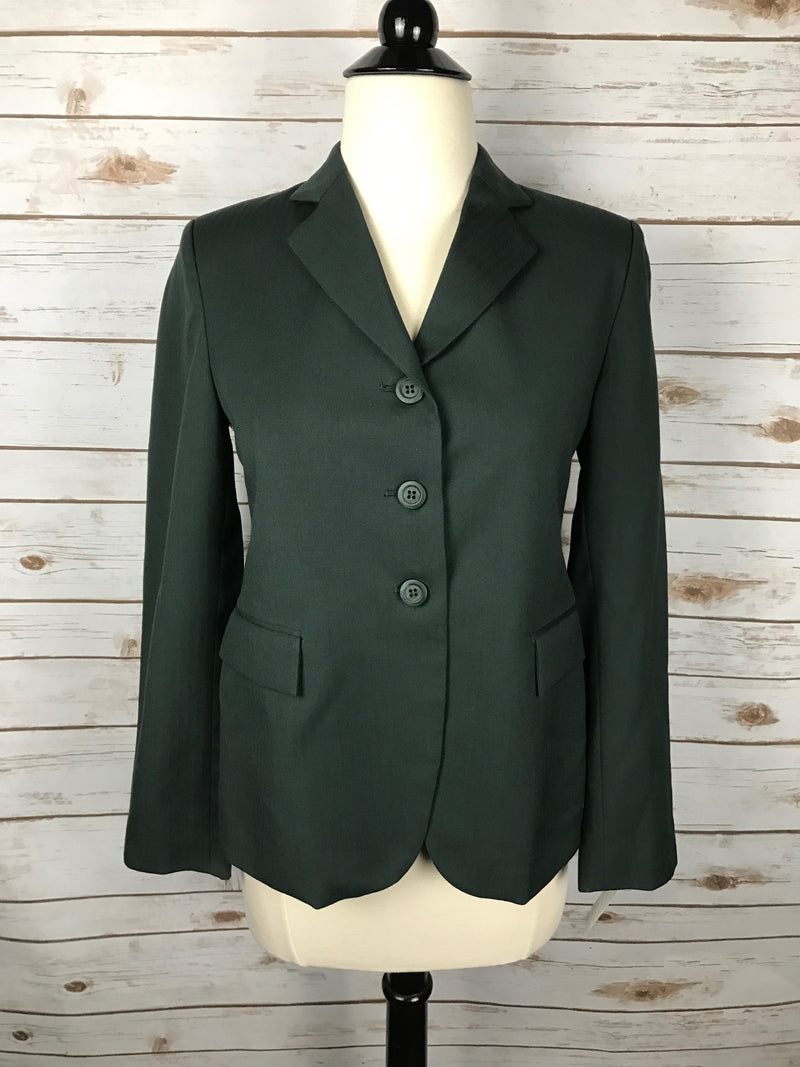 Elite Hunt Coat in Hunter Green - Child's 16R