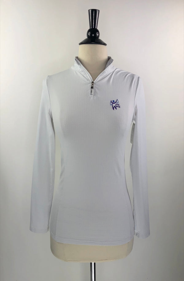 Just World International Sun Shirt in White - Women's Small