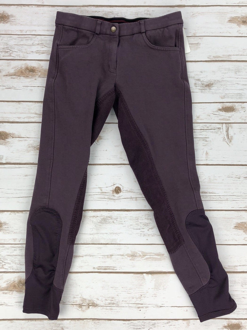 Riding Sport Full Seat Knit Breeches in Purple - Women's 26R