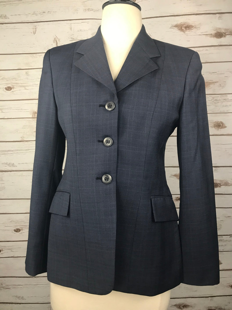 Grand Prix Hunt Coat in Navy Plaid - Women's 10S/US4S