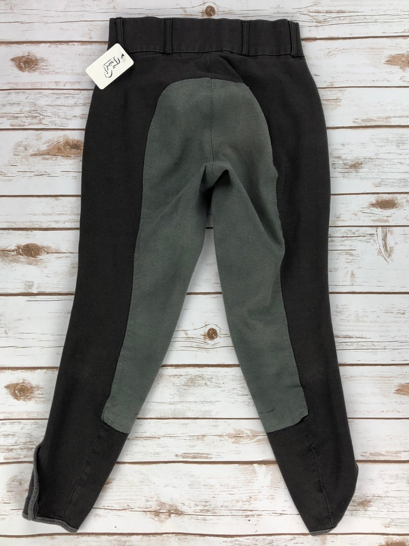 TuffRider Bamboo Full Seat Breeches in Charcoal - Women's 26