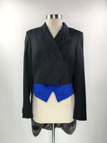 Stable Cloth Custom Shadbelly in Black/Royal Blue - Approx. Women's US 10 | M