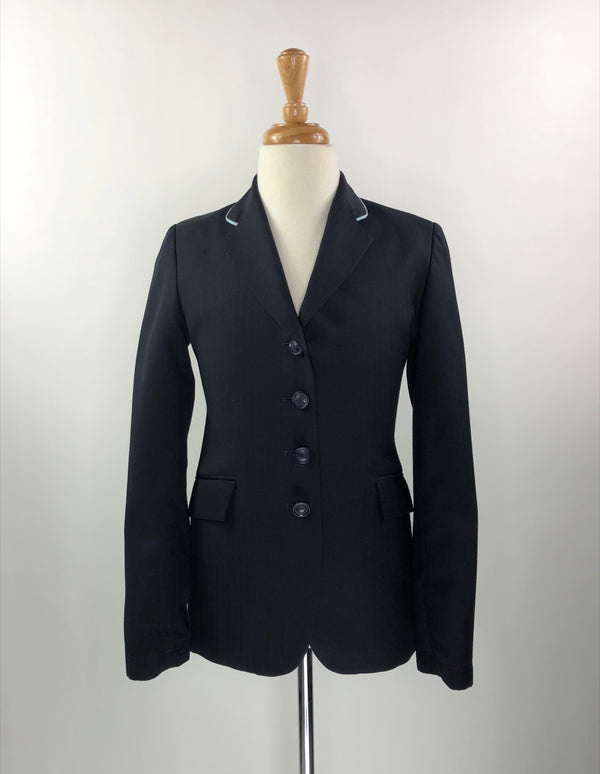 Grand Prix Hunt Coat in Navy w/Light Blue Piping - Children's 14T Pro