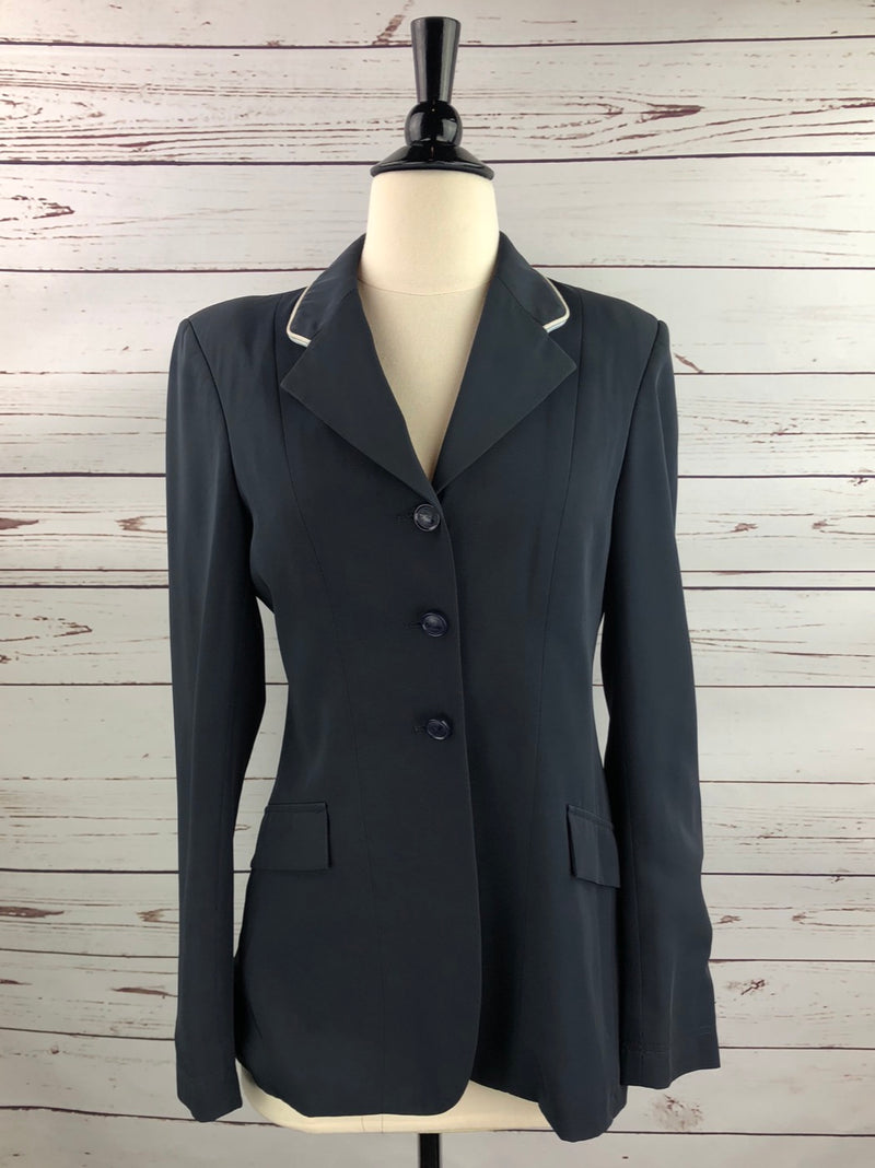 Grand Prix TechLite Hunt Coat in Navy w/Piping - Women's 10T (US 4T) Slim