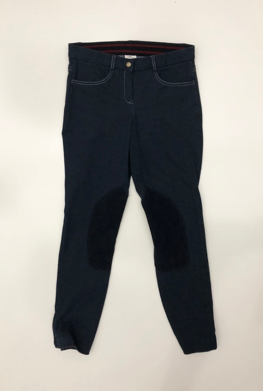 Riding Sport Knit Jean Breeches in Navy - Front View