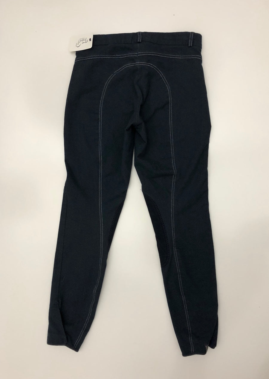 Riding Sport Knit Jean Breeches in Navy - Back View