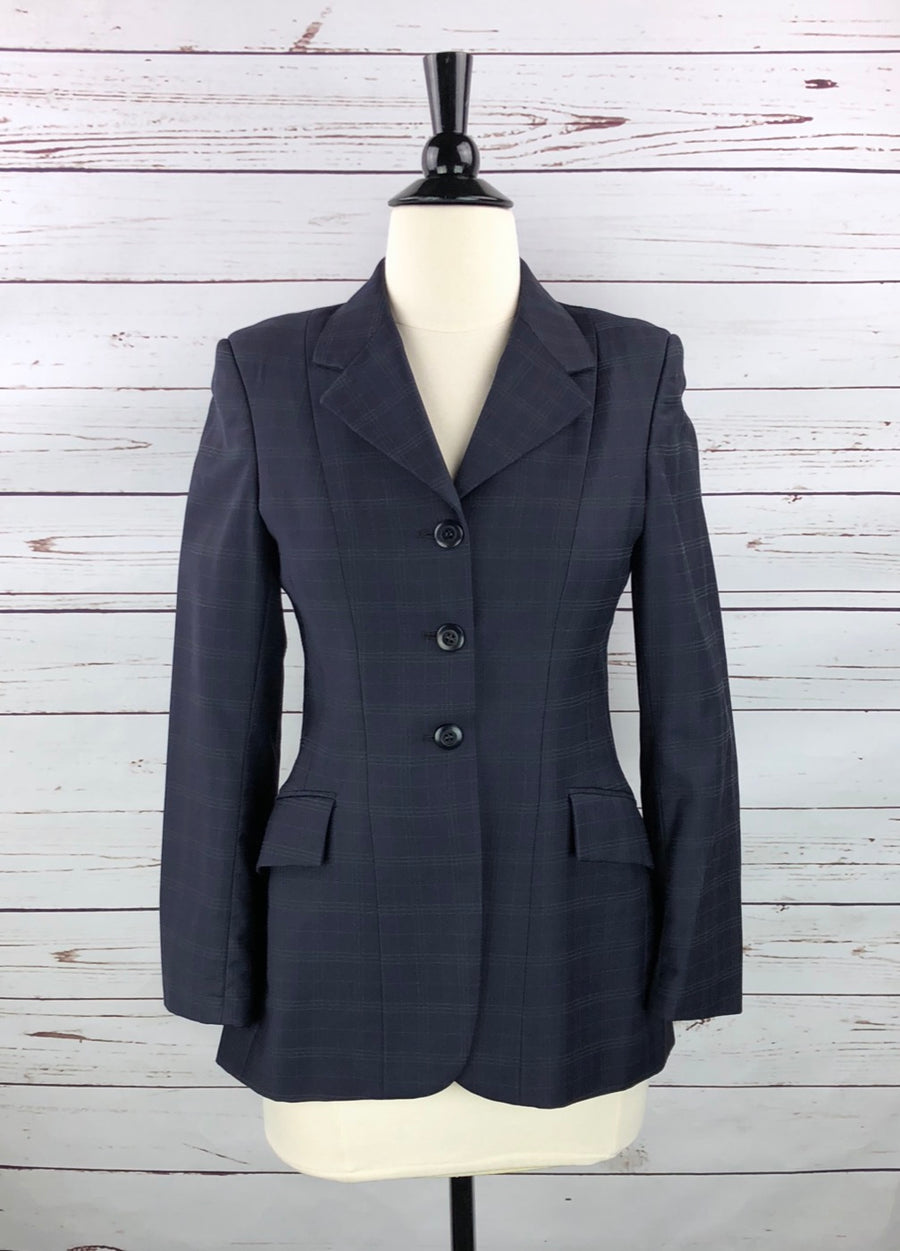Grand Prix Hunt Coat in Navy - Front View