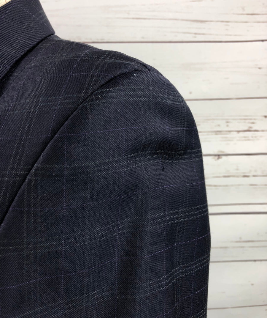 Grand Prix Hunt Coat in Navy -  Shoulder View