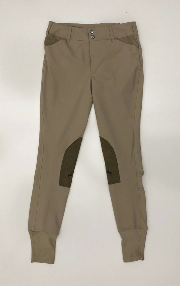Equine Couture Coolmax Champion Breeches in Safari/Taupe - Children's 16