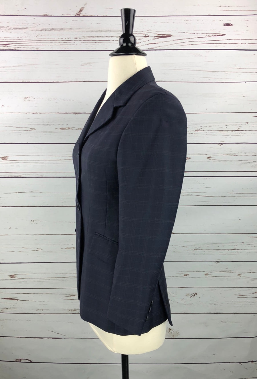 Grand Prix Hunt Coat in Navy - Left Side View
