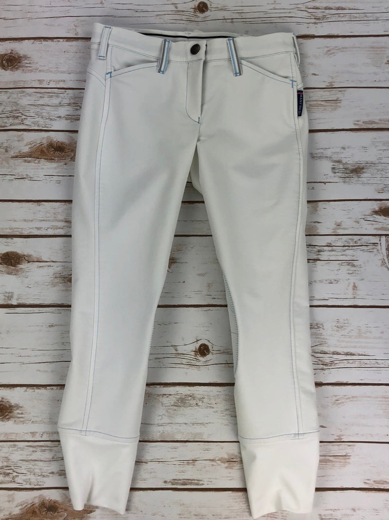 Manfredi Benicia Breeches in White/Light Blue - Children's 12