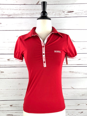 Sarm Hippique Camelia Polo in Red - Women's S