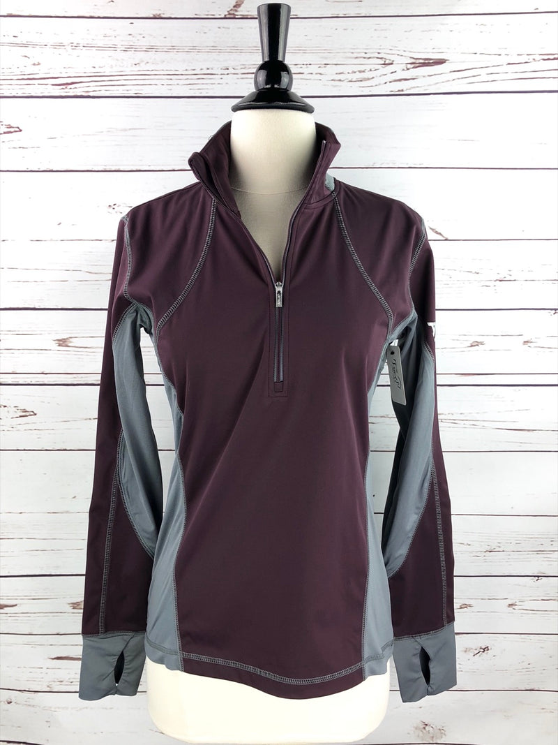 Ariat Bryce Pullover Jacket in Mulberry/Grey - Women's XS