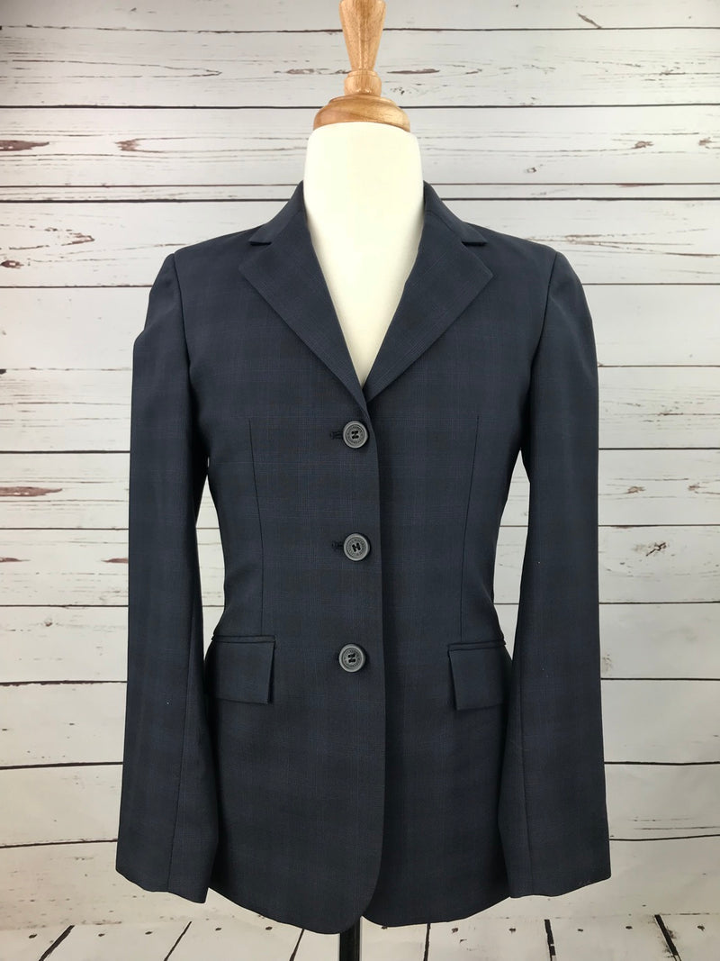 RJ Classics Prestige Hunt Coat in Navy Plaid - Children's 12L
