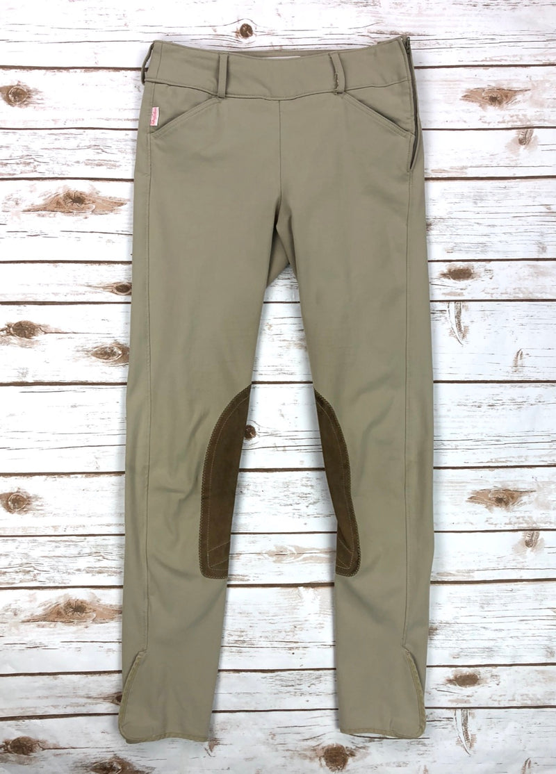 Tailored Sportsman Trophy Hunter Side Zip Breeches in Tan - Women's 26L