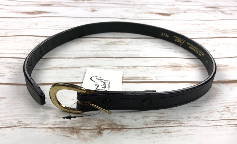 Tory Leather Plain Leather Belt in Black - 24""