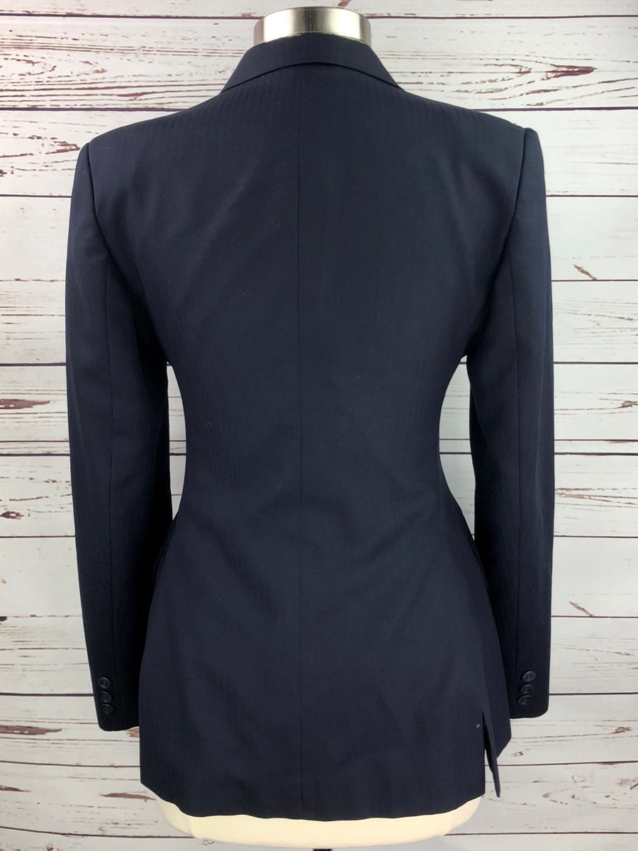 Grand Prix Hunt Coat in Navy -  Back View