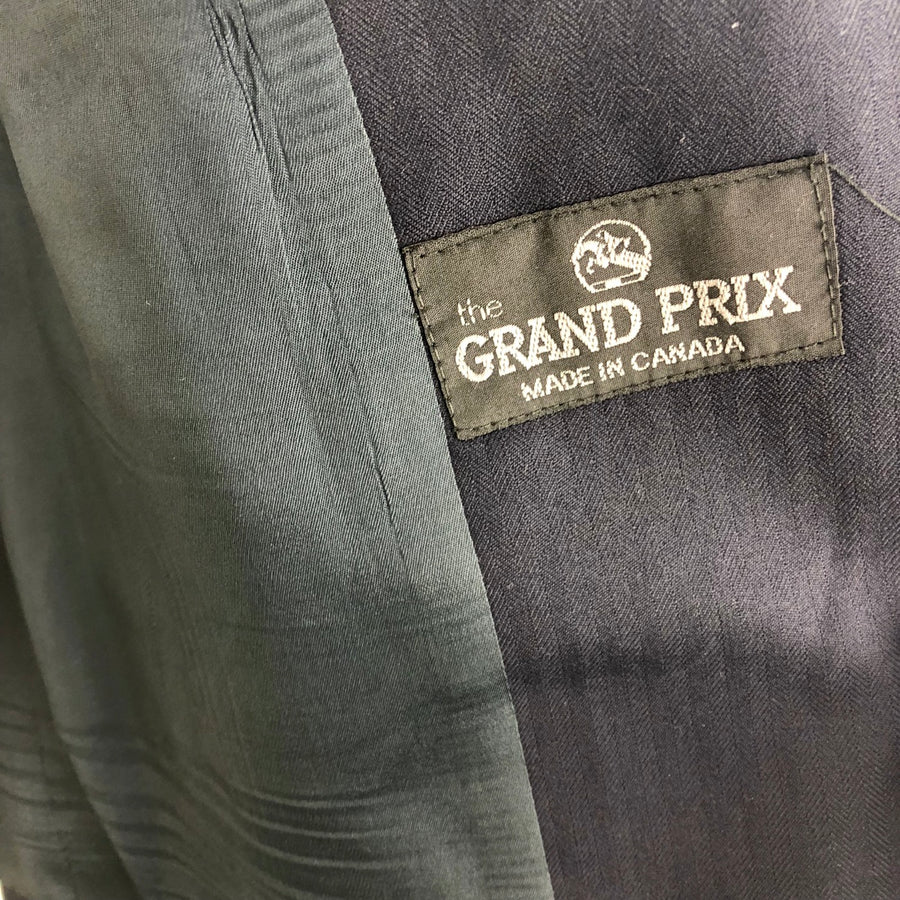 Grand Prix Hunt Coat in Navy -  Logo View