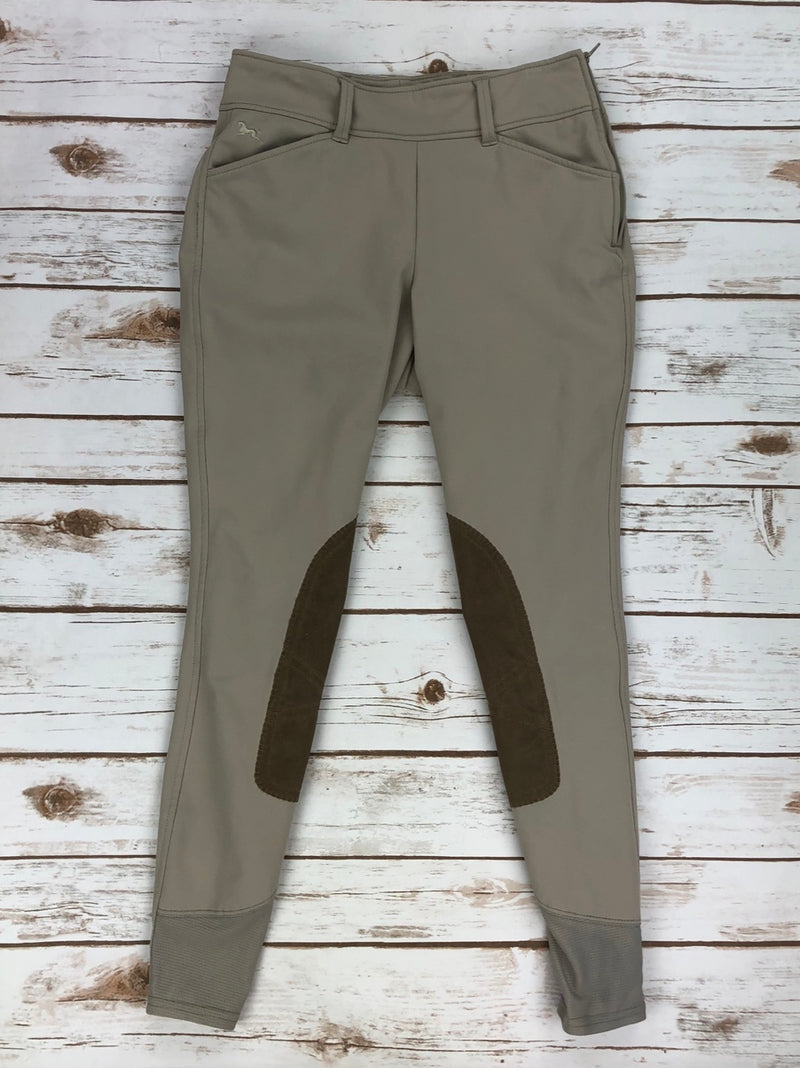 RJ Classics Belmont Side Zip Breeches in Sand - Women's 24R