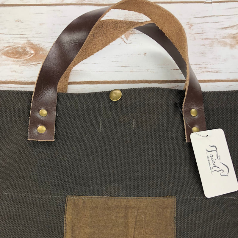 Lovestitch Cole Canvas Tote in Brown - One Size