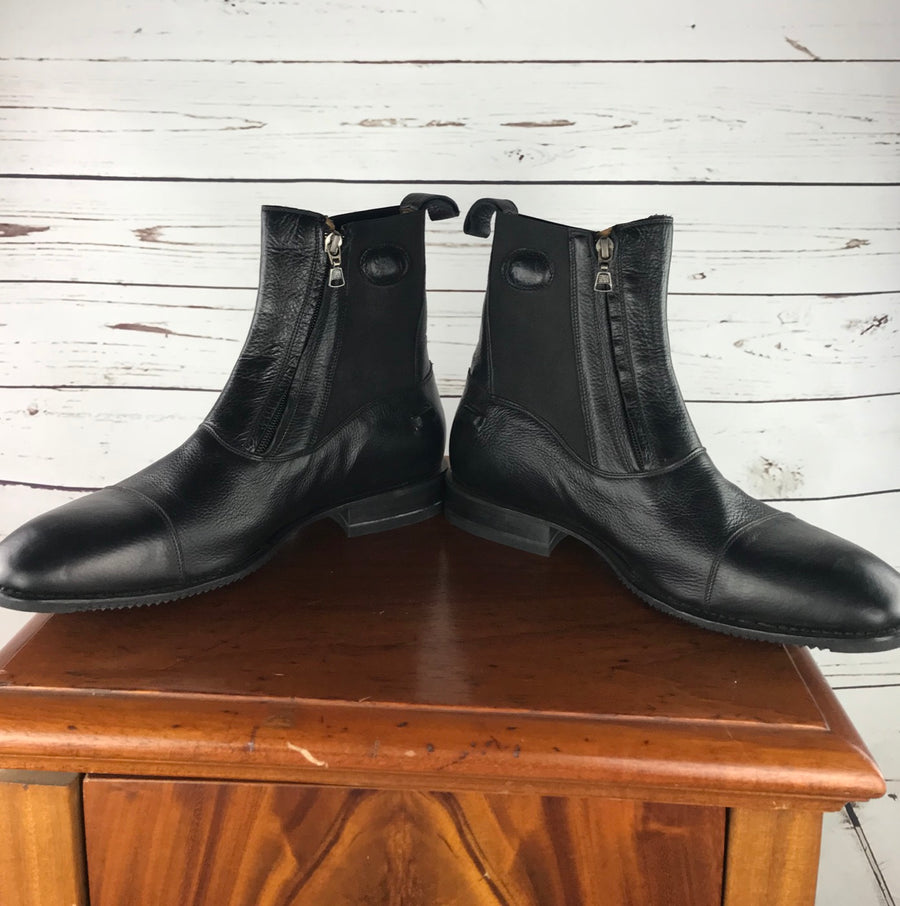 DeNiro T03 Paddock Boots in Black - Front Inside View