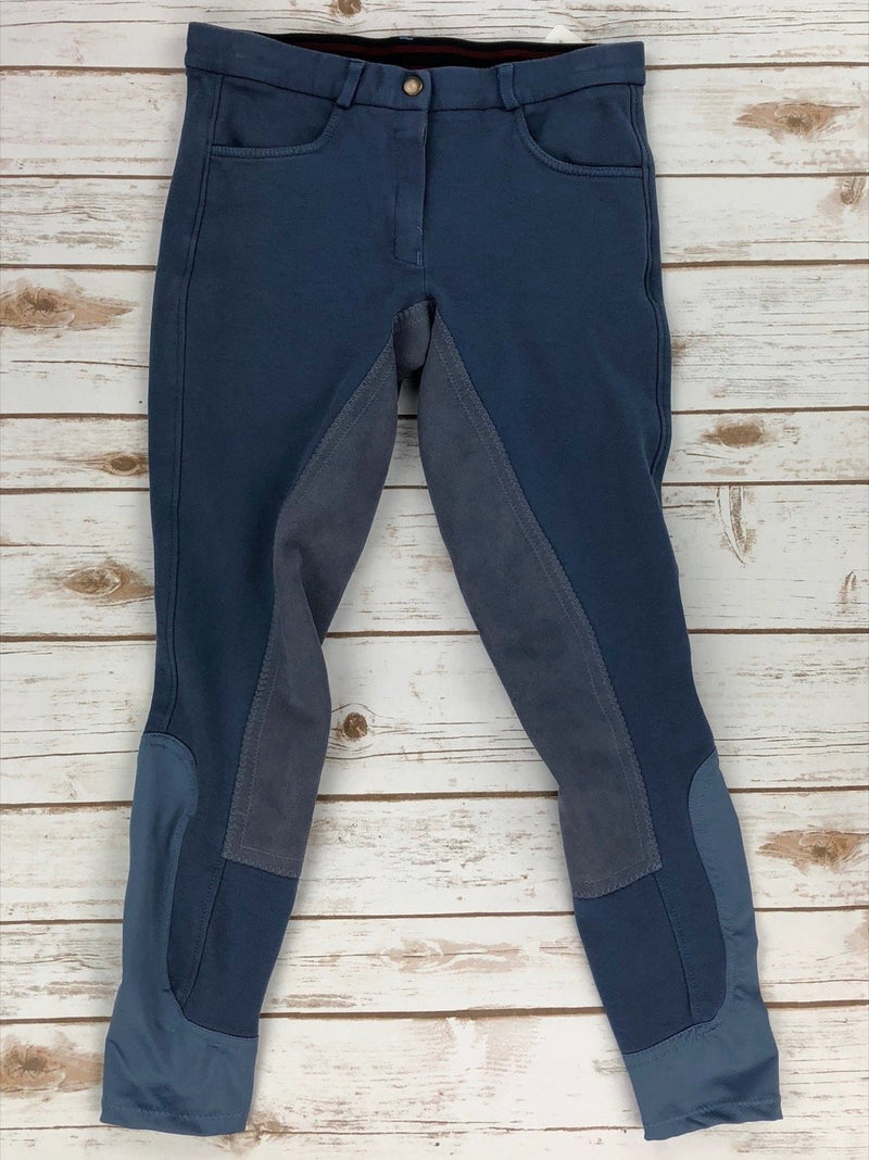 Riding Sport Full Seat Knit Breeches in Blue - Women's 26R