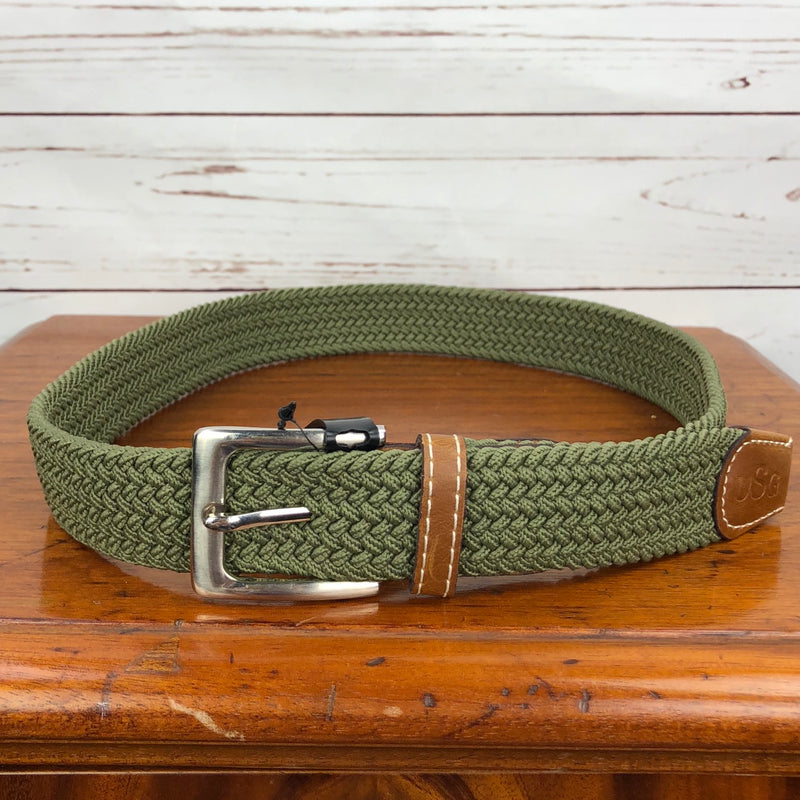 USG Stretch Woven Belt in Olive - Size M (90 cm)