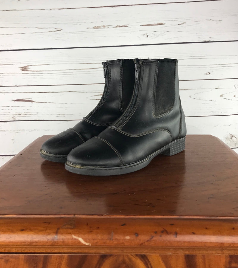Millstone Zip Paddock Boots in Black - Children's 3