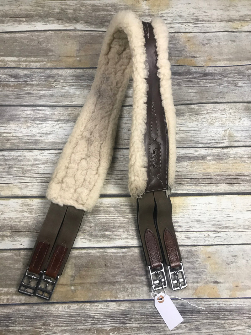 CWD Sheepskin Girth in Brown - 52""