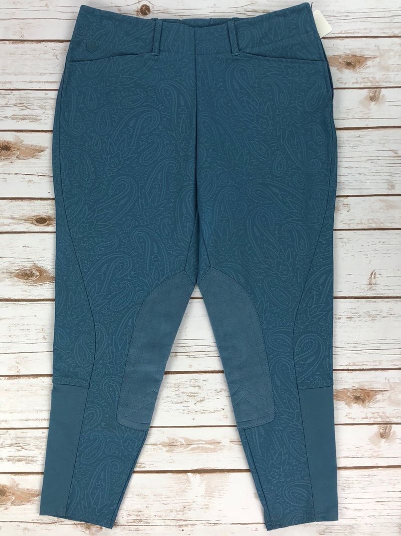 Ariat Side-Zip Breeches in Blue Paisley - Women's 30R