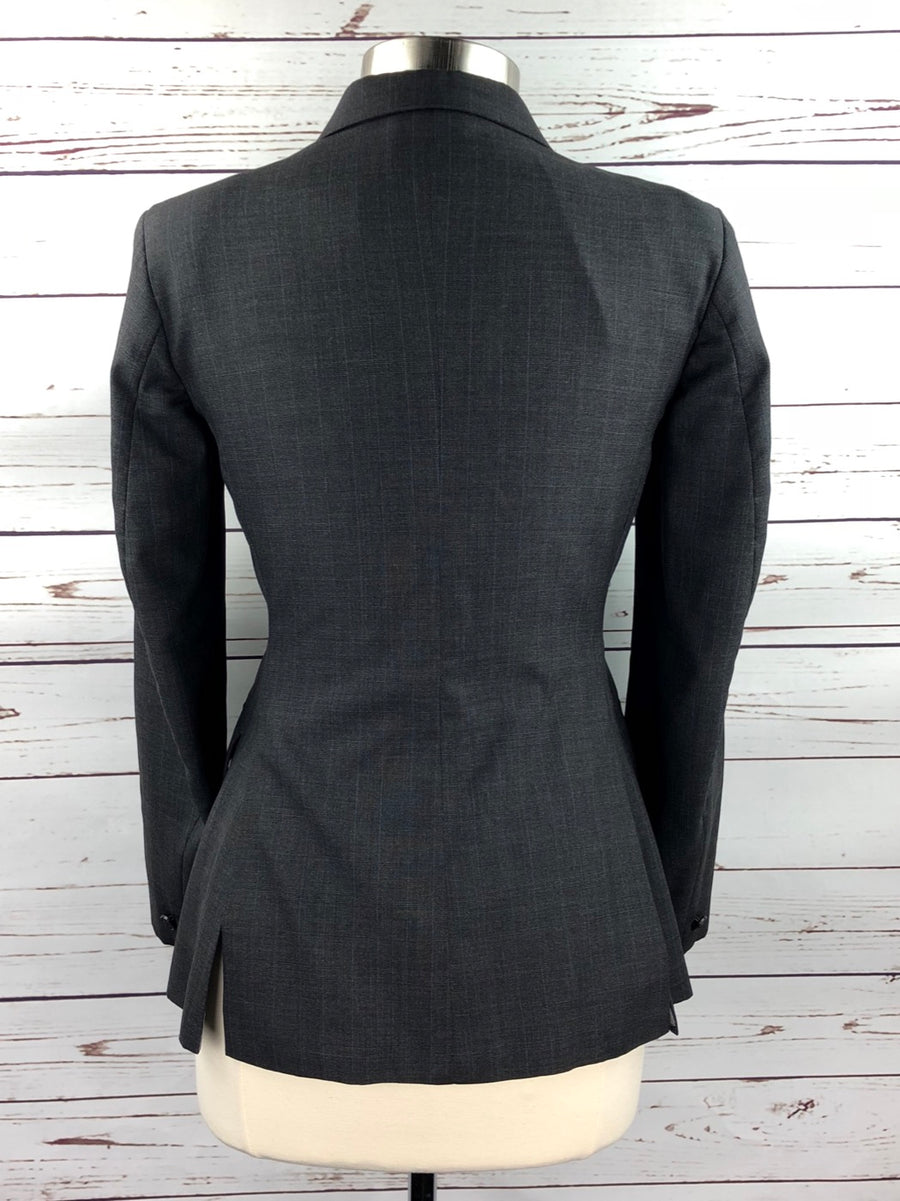 Heythrop Hunt Coat in Charcoal Plaid - Back View
