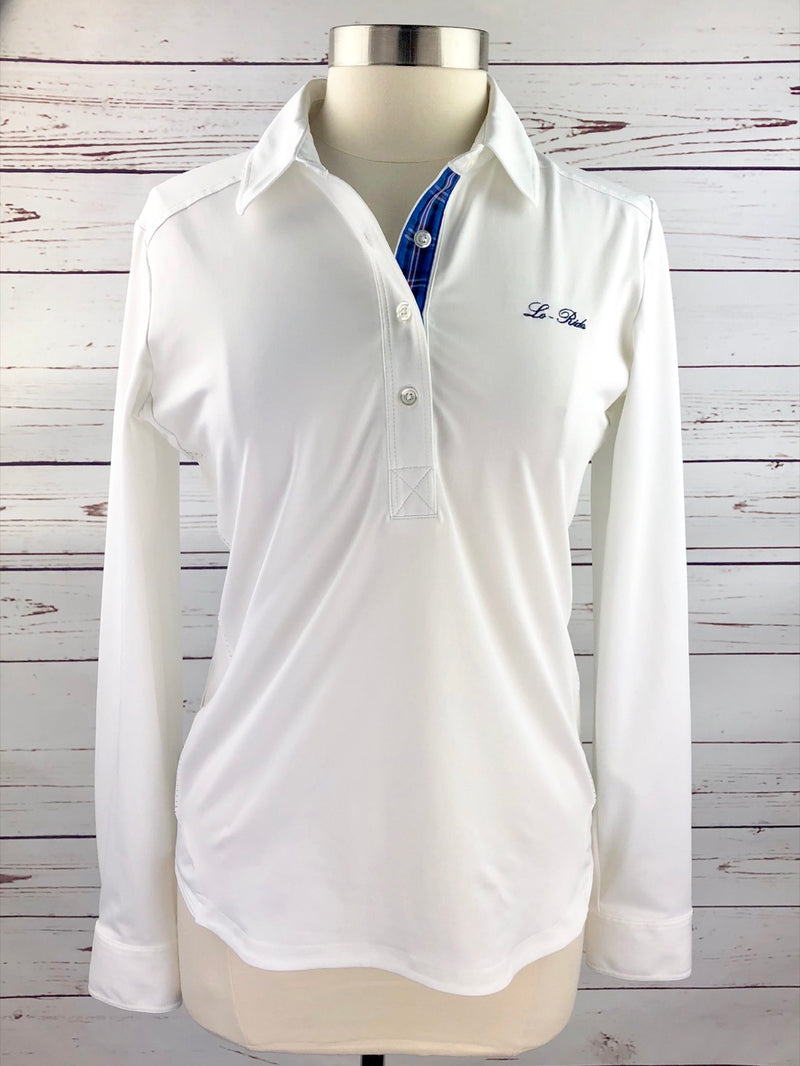 Lo-Ride Thermo Cool Long Sleeve Polo in White - Women's Large