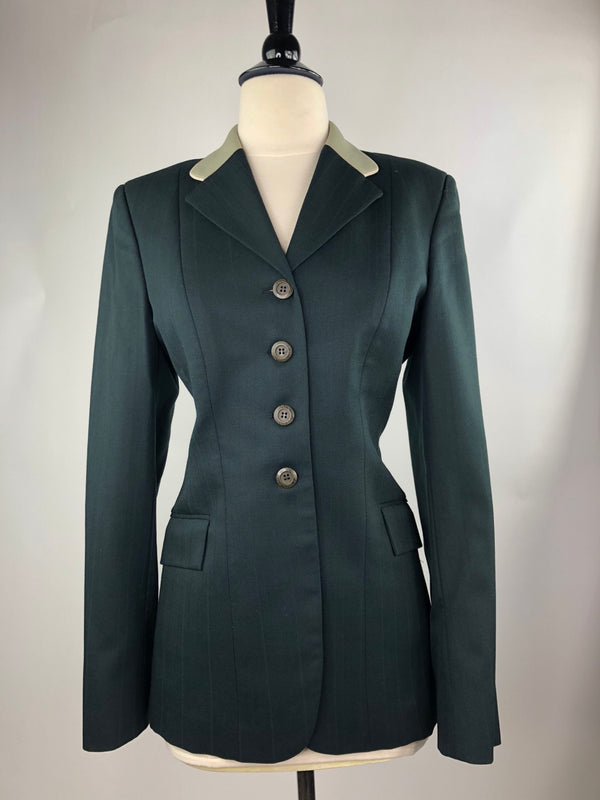 Grand Prix Hunt Coat in Hunter Green w/Contrast Collar - Women's 12T Slim (US 6T Slim)