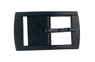 top view of C4 Classic Belt Buckle in Black - One Size