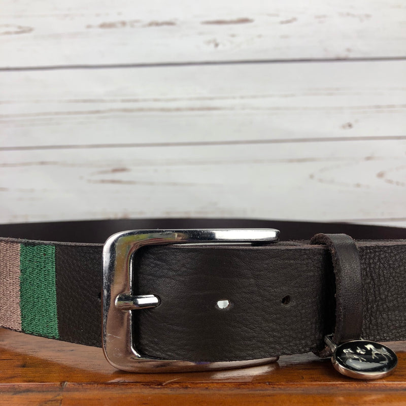 Equine Couture Brinley Leather Belt in Brown - Women's Medium