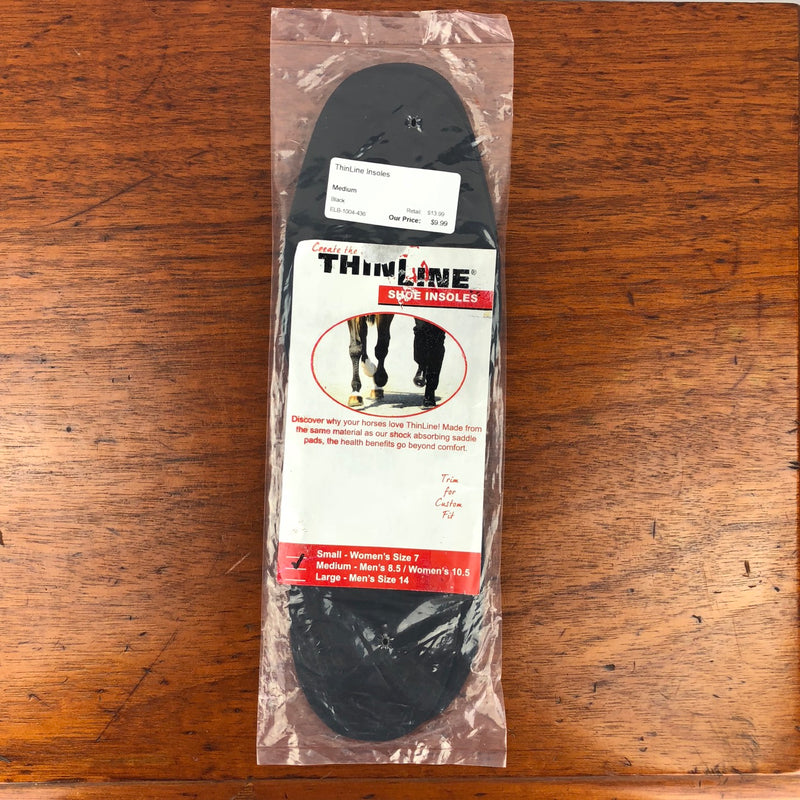 ThinLine Insoles in Black - Medium