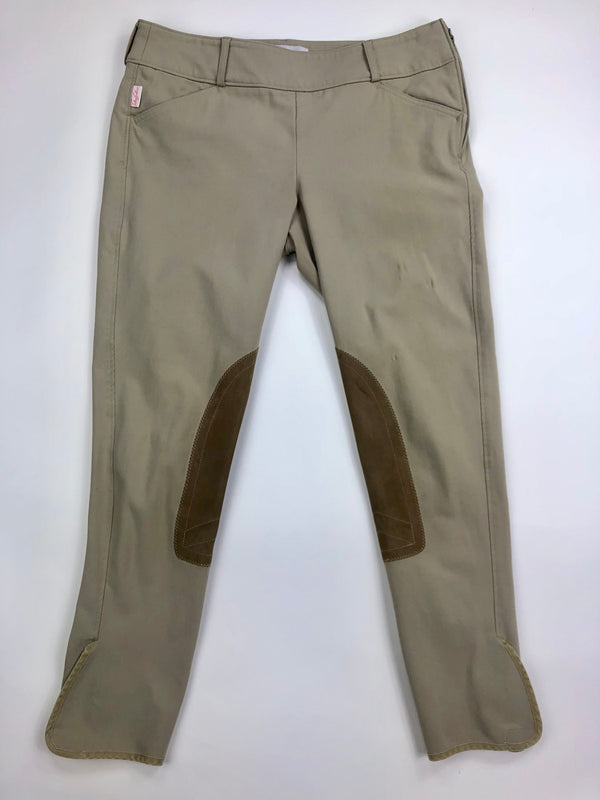 Tailored Sportsman Side Zip Trophy Hunter Breeches in Tan - Women's 30R